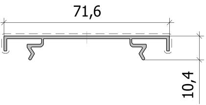 Накрывающая рейка FS.C-26