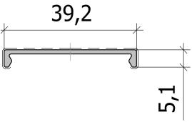 Нащельник клипсовый FS.C-20