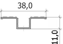 Нащельник омега основной FS.N-04