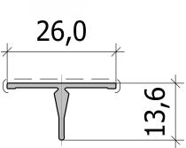 Нащельник узкий - центр FS.C-28