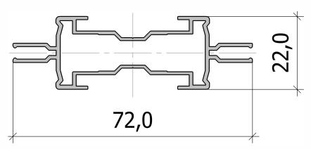 Стойка узкая симметричная FS.C-09
