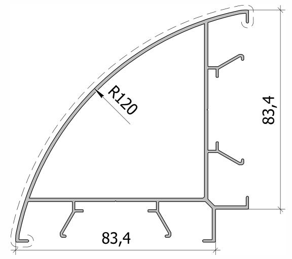 Угловой столб - дуга FS.C-08