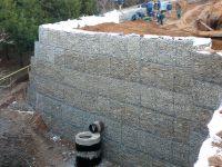 Подпорные стенки из габионов