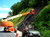 Применение георешетки на дорогах